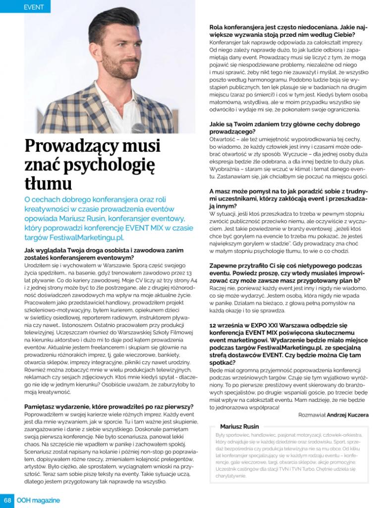 Wywiad Mariusz Rusin OHH Magazin